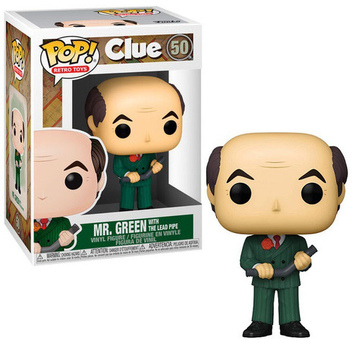Funko Clue POP! Movies Mr. Green with Lead Pipe Vinyl Figure #50