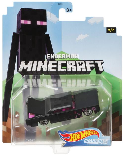 Hot Wheels Minecraft Character Cars Enderman Diecast Character Car #2/7 [2020]