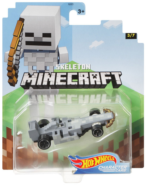 Hot Wheels Minecraft Character Cars Skeleton Diecast Character Car #3/7 [2020]