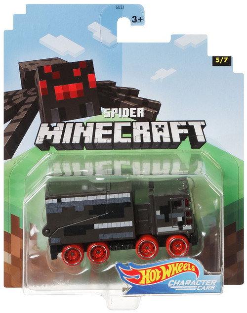 Hot Wheels Minecraft Character Cars Spider Diecast Character Car #5/7 [2020]