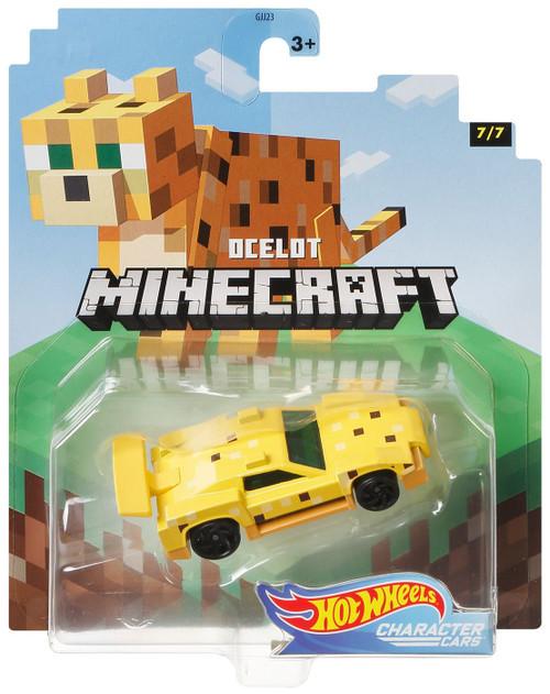 Hot Wheels Minecraft Character Cars Ocelot Diecast Character Car #7/7 [2020]