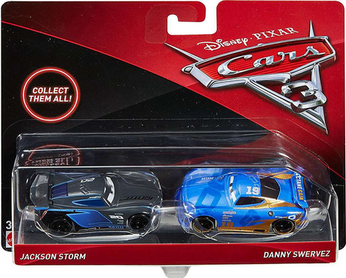 Disney / Pixar Cars Cars 3 Jackson Storm & Danny Swervez Diecast 2-Pack [Damaged Package]