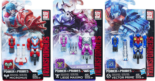 Transformers Generations Power of the Primes Liege Maximo, Micronus & Vector Prime Master Set of 3 Action Figures