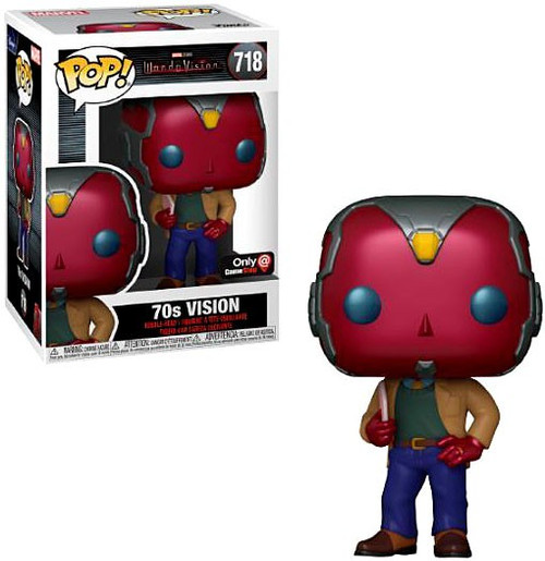 Funko WandaVision POP! Marvel Vision Exclusive Vinyl Bobble Head #718 [70's] (Pre-Order ships November)