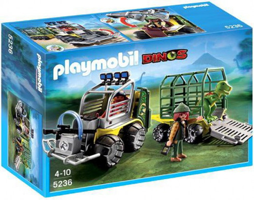 Playmobil Dinos Transport Vehicle with Baby T-Rex Set #5236 [Damaged Package]