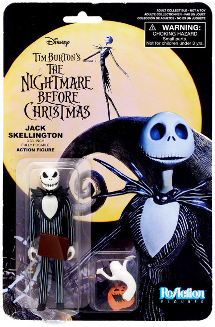 Funko Nightmare Before Christmas ReAction Jack Skellington Action Figure [Wicked Smile, with Pumpkin & Ghost]