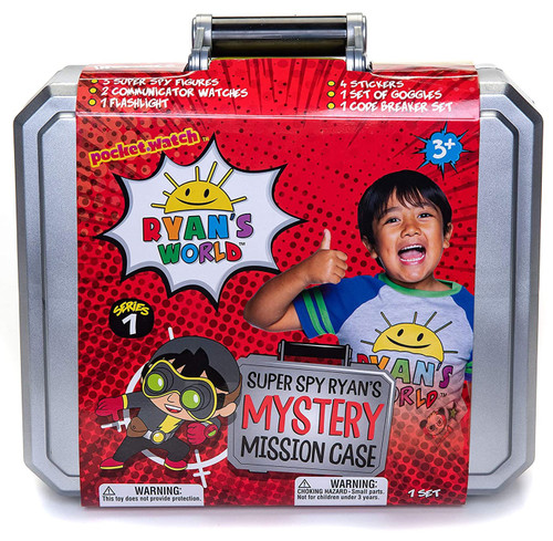 Ryan's World Super Spy Mystery Mission Case Exclusive Set