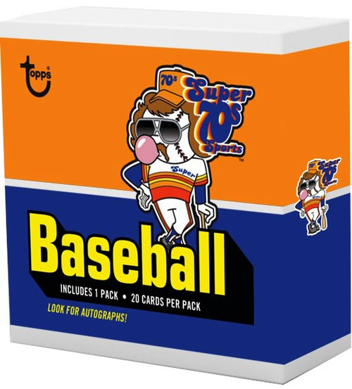 MLB Topps x Super 70's Sports Exclusive Trading Card Pack [20 Cards!]
