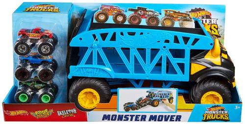 Hot Wheels Monster Trucks Monster Mover Exclusive Playset [Includes 3 Monster Trucks!]