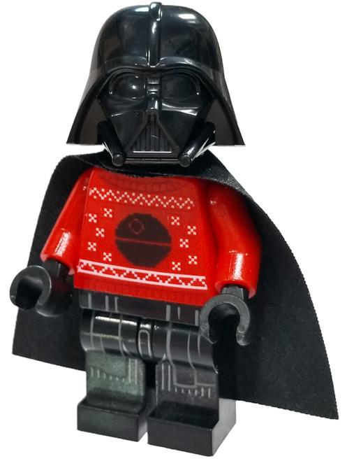 LEGO Star Wars Darth Vader Minifigure [Red Christmas Sweater with Death Star Loose]