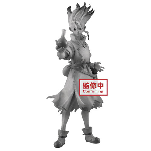 Dr. Stone Figures of Stone World Senku Ishigami 7-Inch Collectible PVC Figure [Stone Version] (Pre-Order ships June)