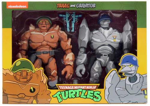 NECA Teenage Mutant Ninja Turtles Traag & Granitor Exclusive Action Figure 2-Pack