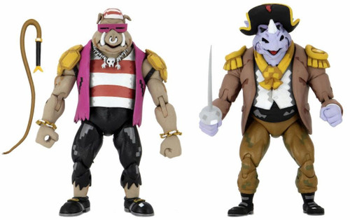 NECA Teenage Mutant Ninja Turtles Turtles in Time Pirate Rocksteady & Bebop Action Figure 2-Pack (Pre-Order ships May)
