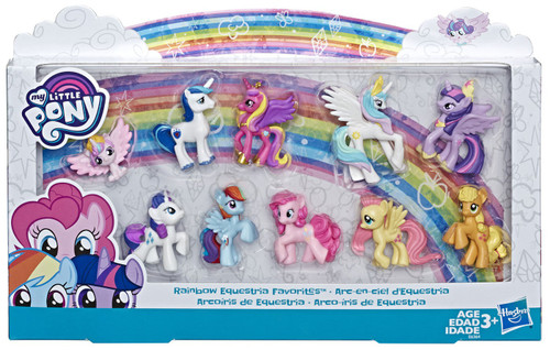 My Little Pony Rainbow Equestria Favorites Exclusive 1.5-Inch Mini Figure 10-Pack