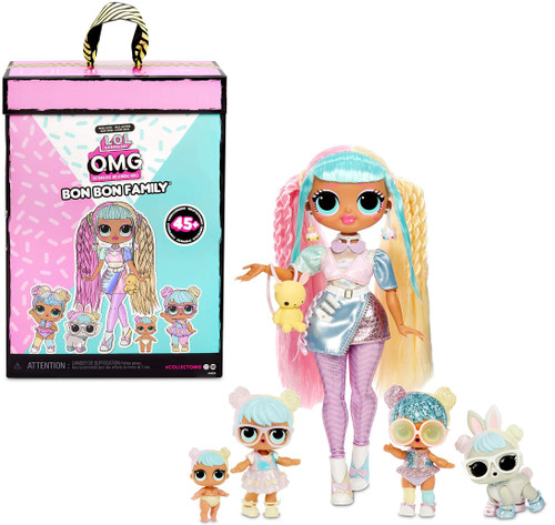 LOL Surprise OMG Bon Bon Family Fashion Doll [Candylicious, Sparkly Bon Bon, Lil Bon Bon & Bun Bun]
