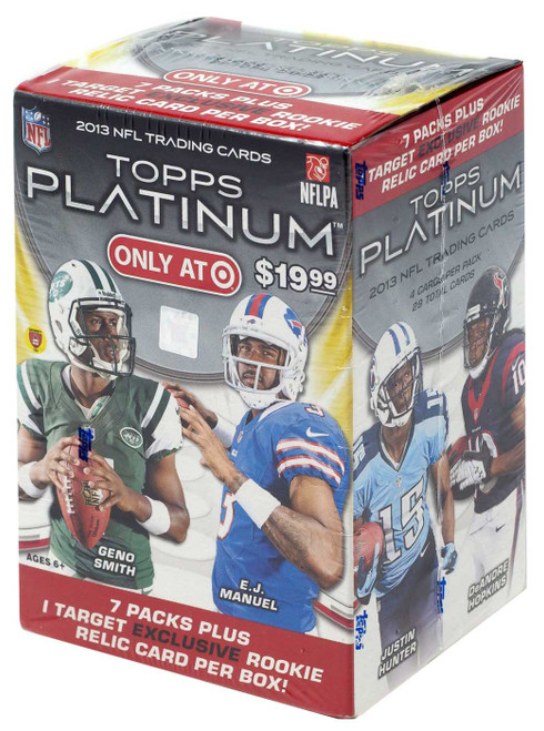 NFL Topps 2013 Prime Football Exclusive Trading Card BLASTER Box [7 Packs + 1 Rookie Relic Card!]