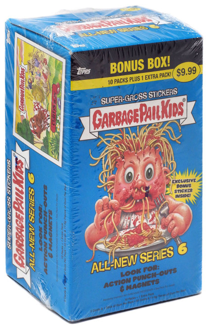 Garbage Pail Kids Topps All-New Series 6 Trading Card Sticker BONUS Box [10 Packs + 1 Extra Pack]