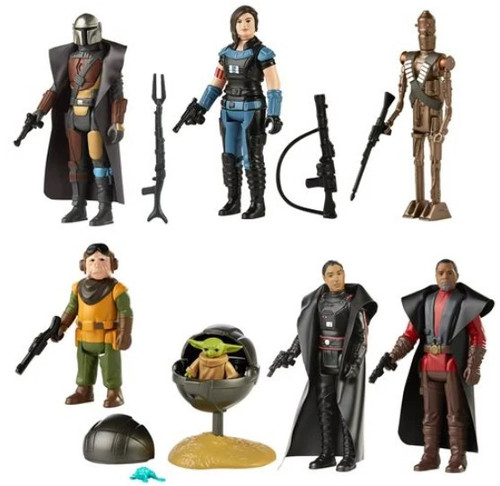 Star Wars The Mandalorian Retro Collection Series 3 Set of 7 Action Figures (Pre-Order ships May)