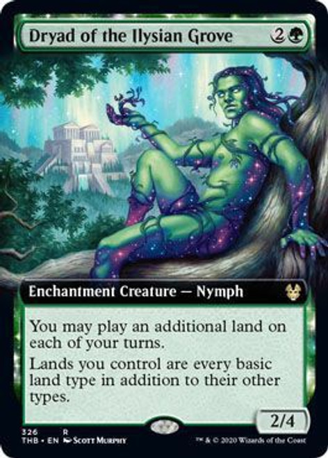 MtG Theros Beyond Death Rare Dryad of the Ilysian Grove #326 [Extended Art Foil]