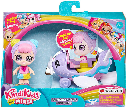 Kindi Kids MINIS Rainbow Kate & Airplane Doll