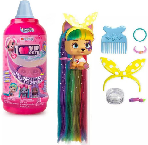 VIP Pets Series 1 Mousse Bottle Mystery Surprise Hair Reveal Doll