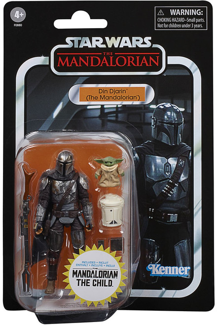 Star Wars Vintage Collection Din Djarin (The Mandalorian) Exclusive Action Figure VC177 [with The Child!]