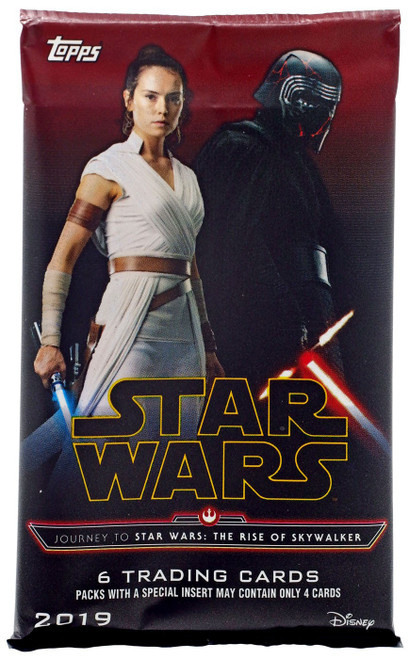 Journey to Star Wars: The Rise of Skywalker Trading Card RETAIL Pack [6 Cards!]