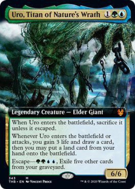 MtG Theros Beyond Death Mythic Rare Uro, Titan of Nature's Wrath #343 [Extended Art]