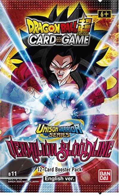 Dragon Ball Super Collectible Card Game Unison Warrior Series 2 Vermilion Bloodline Booster Pack B11