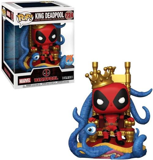 Funko POP! Marvel King Deadpool Exclusive 6-Inch Deluxe Vinyl Figure [Super-Sized] (Pre-Order ships January)