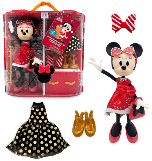 Disney 2020 Holiday Minnie Mouse Exclusive 9-Inch Doll & Fashion Set