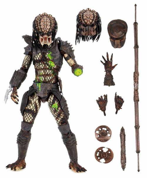 NECA Predator 2 Battle Damaged City Hunter Predator Action Figure [Ultimate Version] (Pre-Order ships April)
