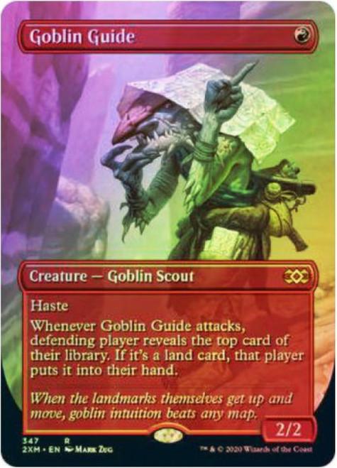 MtG Double Masters Rare Goblin Guide #347 [FOIL Alternate Art Borderless]