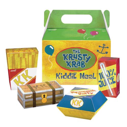 Spongebob Squarepants Krusty Krab Kiddie Meal Exclusive Action Figure Set