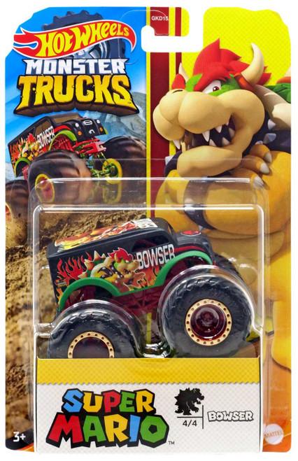 Hot Wheels Monster Trucks Super Mario Bowser Diecast Car