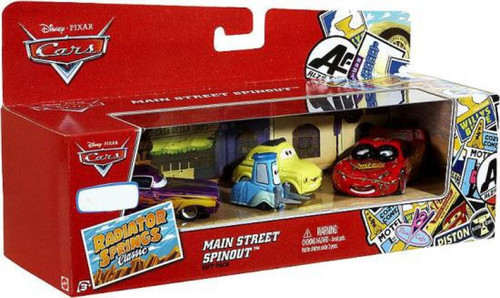 Disney / Pixar Cars Radiator Springs Classic Main Street Spinout Gift Pack Exclusive Diecast Car Set [Damaged Package]