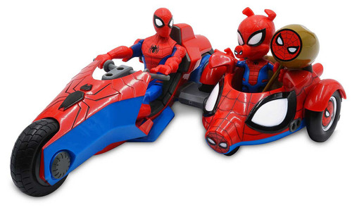 Disney Marvel Toybox Spider-Man & Spider-Ham Exclusive Action Figure & Vehicle [with Bike]