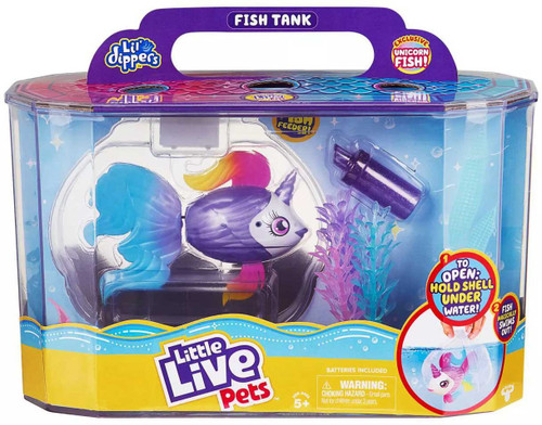 Little Live Pets Lil' Dippers Fish Tank Playset [with Exclusive Unicorn Fish!]