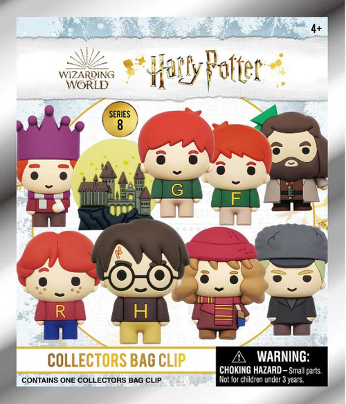 3D Figural Foam Bag Clip Harry Potter Series 8 Christmas Mystery Pack