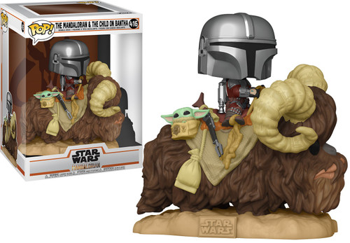 Funko POP! Star Wars The Mandalorian & The Child On Bantha Deluxe Vinyl Figure (Pre-Order ships April)