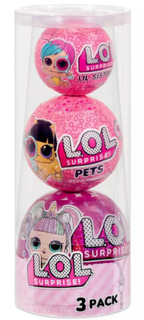 LOL Surprise Re-Released Sparkle & Eye Spy Exclusive Mystery 3-Pack [Lil Sister, Big Sister & Pets]