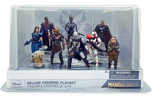 Disney Star Wars The Mandalorian Exclusive 9-Piece Deluxe PVC Figure Play Set