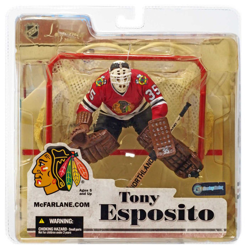 McFarlane Toys NHL Chicago Blackhawks Sports Picks Legends Series 3 Tony Esposito Action Figure [Yellow Packaging]