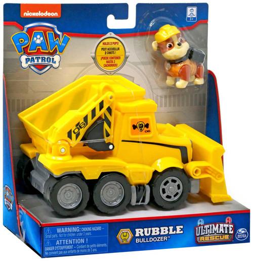 Paw Patrol Ultimate Rescue Rubble Bulldozer Vehicle & Figure [2020]