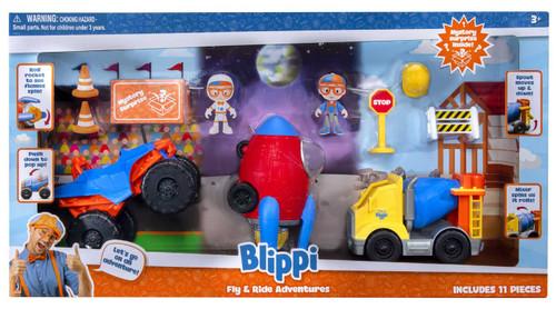 Blippi Fly & Ride Adventures 11-Piece Playset