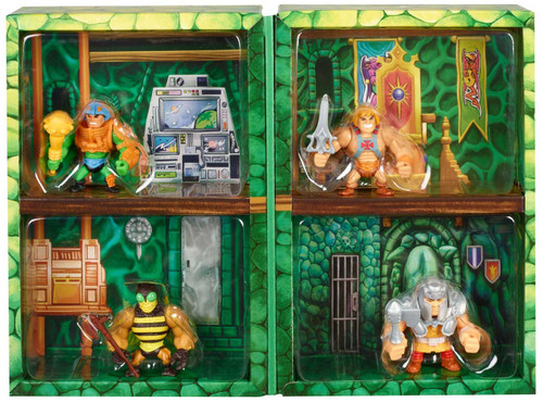 Masters of the Universe Eternia Minis He-Man, Buzz-Off, Man-At-Arms & Ram-Man 2-Inch Mini Figure 4-Pack