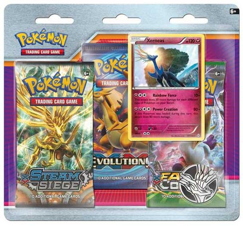 Pokemon Trading Card Game XY Xerneas Special Edition [3 Booster Packs, Promo Card & Coin!]