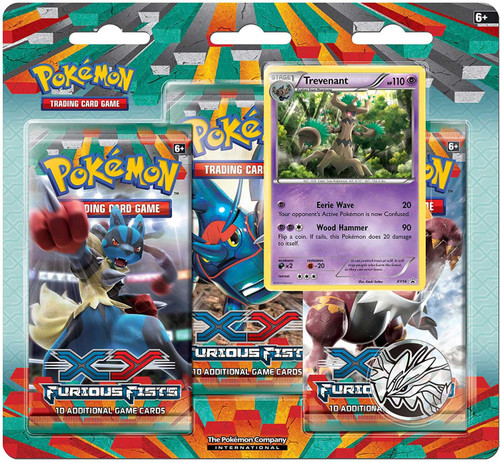 Pokemon Trading Card Game XY Furious Fists Treventant Special Edition [3 Booster Packs, Promo Card & Coin!]
