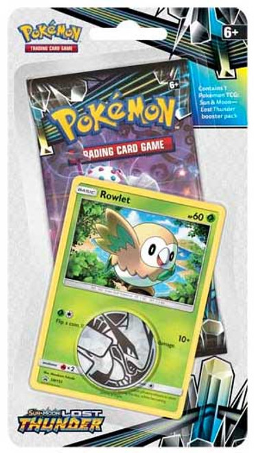 Pokemon Trading Card Game Sun & Moon Lost Thunder Rowlet BLISTER Pack [Booster Pack, Promo Card & Coin!]