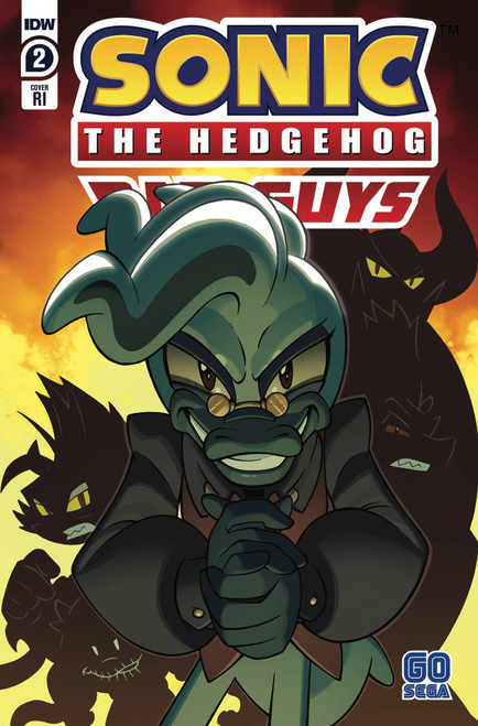 IDW Sonic The Hedgehog Bad Guys #2 of 4 Comic Book [Incentive Cover ]